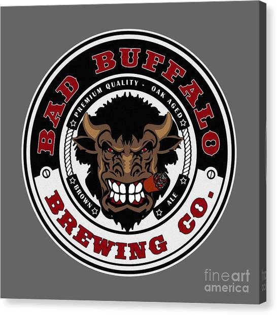 Craft Beer Canvas Print - Bad Buffalo Brewing by Christopher Williams