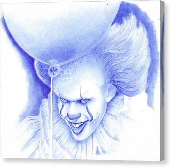 Ballpoint Pens Canvas Print -  Bad Clowns by Oleg Kozelskiy