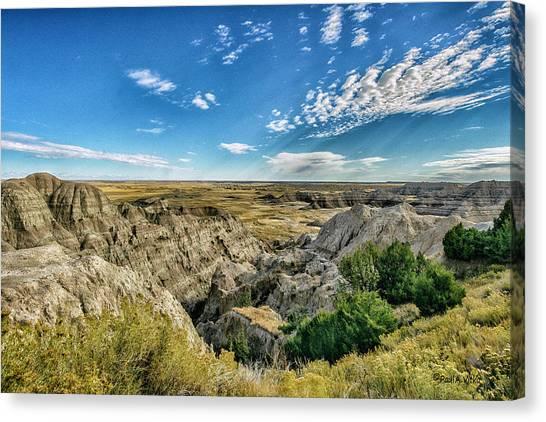Bad Lands South Dakota.... Canvas Print