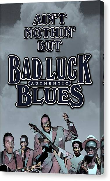 Bad Luck Blues Canvas Print by David Richardson