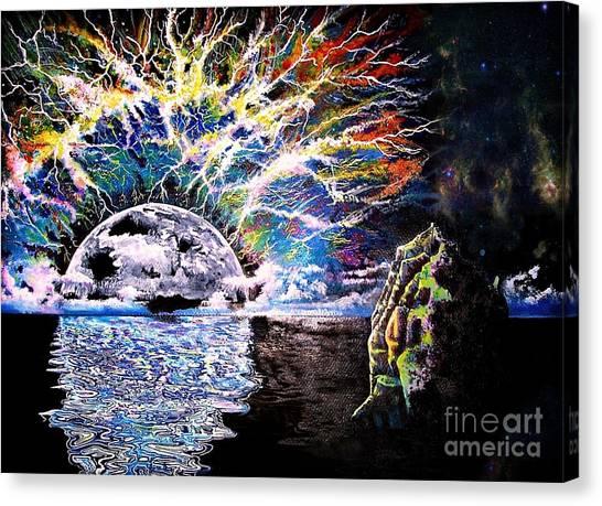 Storm Canvas Print - Bad Moon Rising by David Neace