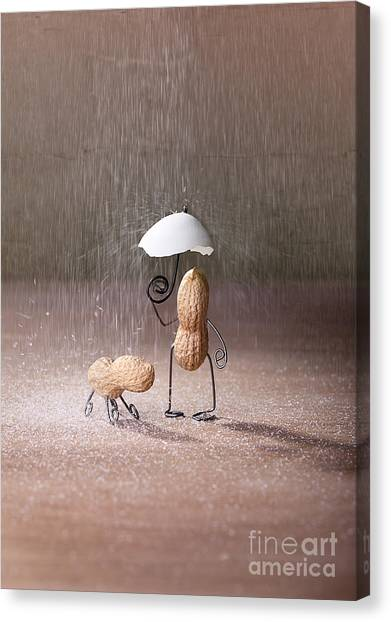 Shower Canvas Print - Bad Weather 02 by Nailia Schwarz