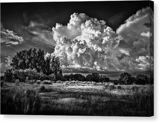 Thunderclouds Canvas Print - Bad Weather B/w by Marvin Spates