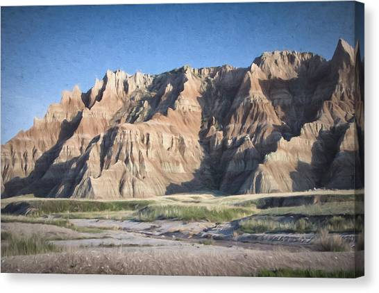 Canvas Print featuring the photograph Badlands by Christopher Meade