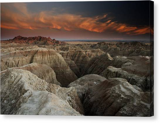 Badlands Canvas Print by Eric Foltz