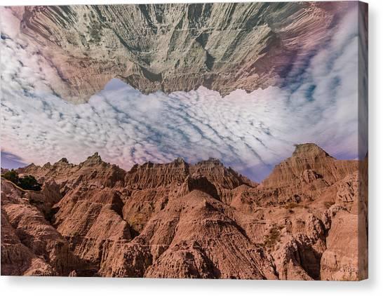 Badlands Reflection.... Canvas Print