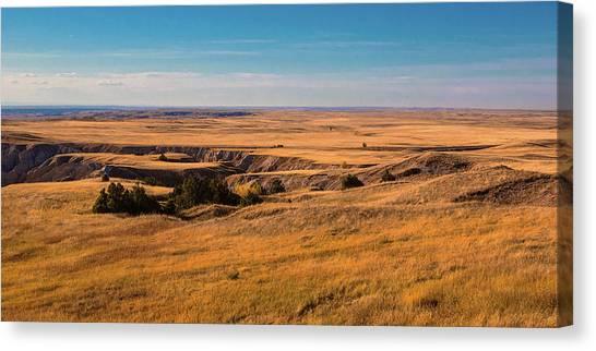 South Dakota Canvas Print - Badlands Vi Panoramic by Tom Mc Nemar
