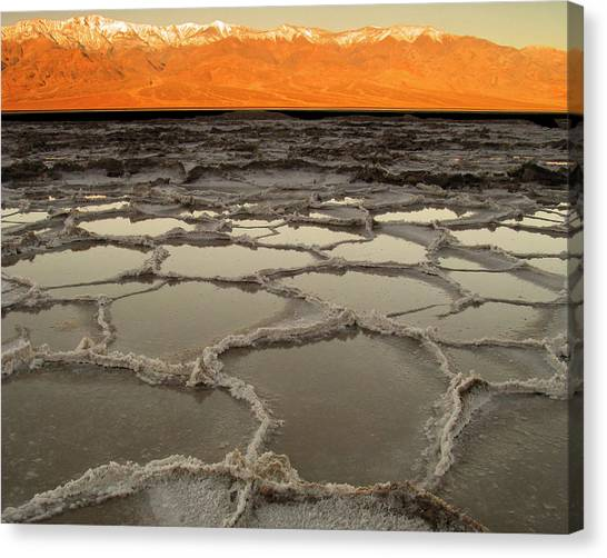Badwater Sunrise-death Valley Canvas Print