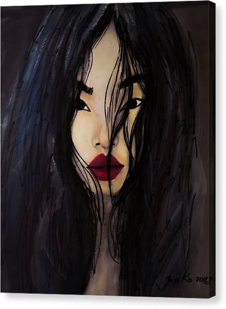 Bae Yoon Young At Backstage Canvas Print