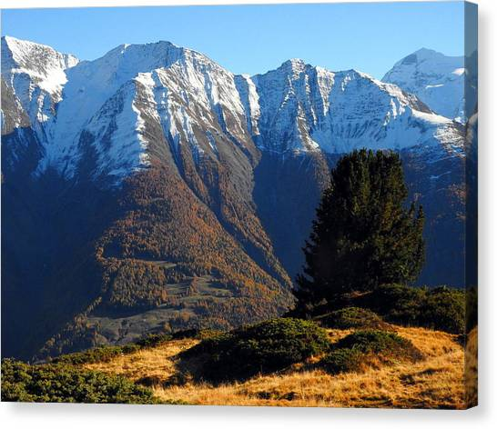 Baettlihorn In Valais, Switzerland Canvas Print