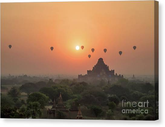 Myanmar Canvas Print - Bagan Temple by Delphimages Photo Creations