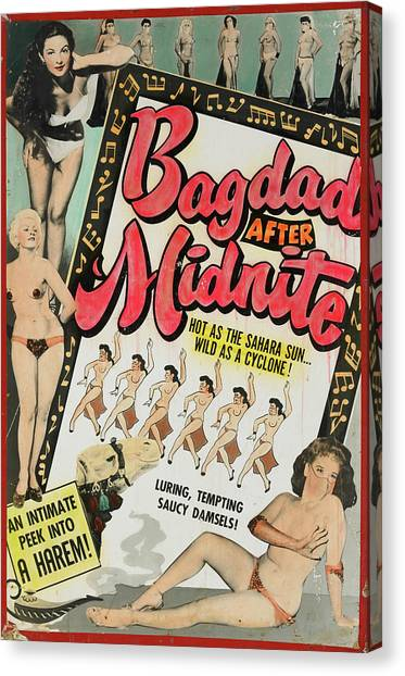 Midnite Canvas Print - Bagdad After Midnite by Burlesque Posters