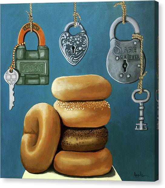 Bagels And Locks Canvas Print