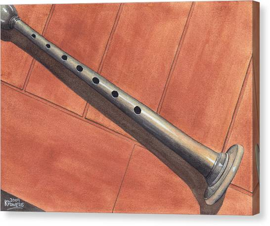 Bagpipes Canvas Print - Bagpipe Chanter by Ken Powers