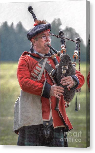 Bagpipes Canvas Print - Bagpipes Song by Randy Steele