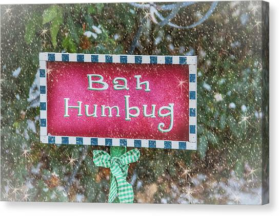 Grinch Canvas Print - Bah Humbug by Pamela Williams
