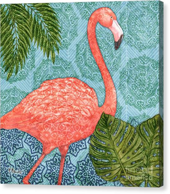 Flamingos Canvas Print - Bahama Flamingo I by Paul Brent