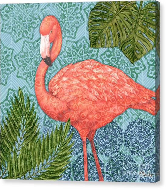 Flamingos Canvas Print - Bahama Flamingo II by Paul Brent