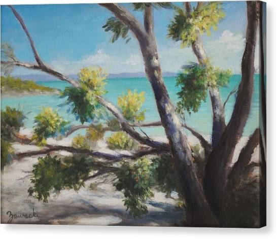 Bahamas Shade Canvas Print