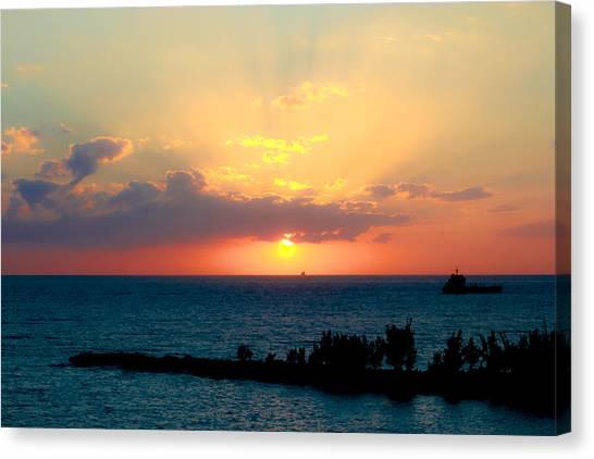 Bahamas Sunset Canvas Print