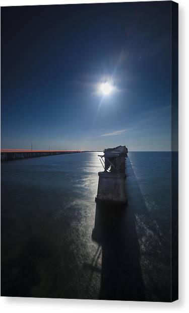 Bahia Honda By The Moonlight Canvas Print by Dan Vidal