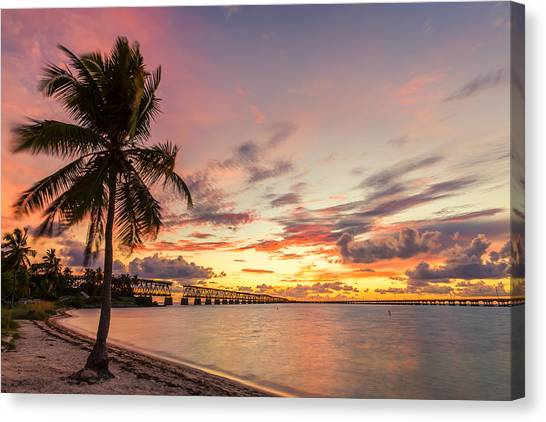 Bahia Honda State Park Sunset Canvas Print