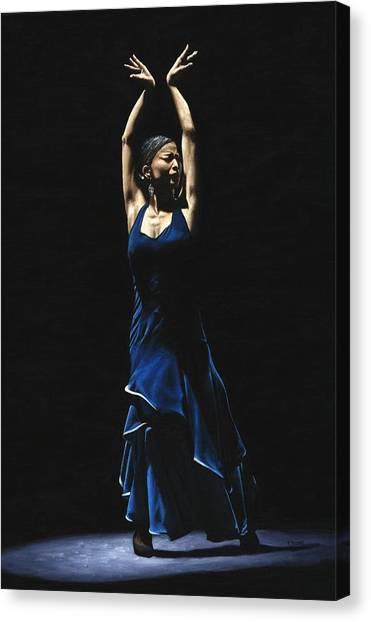 Flamenco Canvas Print - Bailarina A Solas Del Flamenco by Richard Young