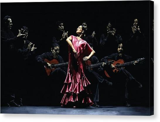 Flamenco Canvas Print - Bailarina Orgullosa Del Flamenco by Richard Young