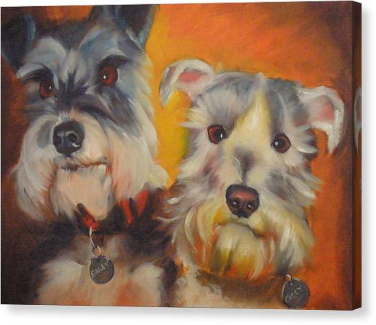 Bailey And Casey Canvas Print by Kaytee Esser