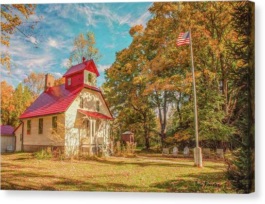 Baileys Harbor Keepers House Canvas Print