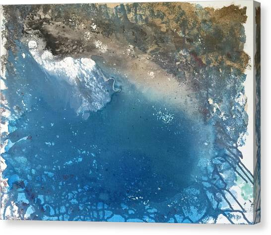Canvas Print featuring the painting Bajamar by Antonio Romero