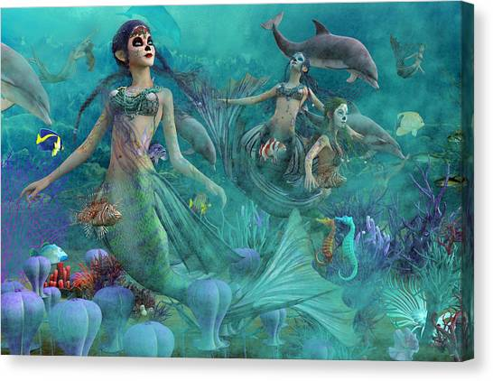 Angel Of Peace Canvas Print - Bajo El Mar De Los Muertos  by Betsy Knapp