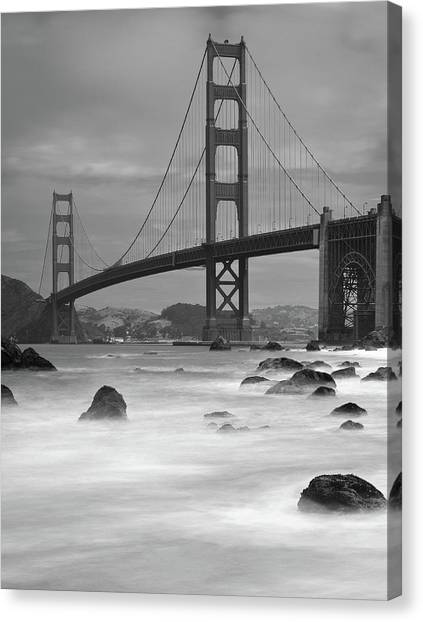 Bridge Canvas Print - Baker Beach Impressions by Sebastian Schlueter (sibbiblue)