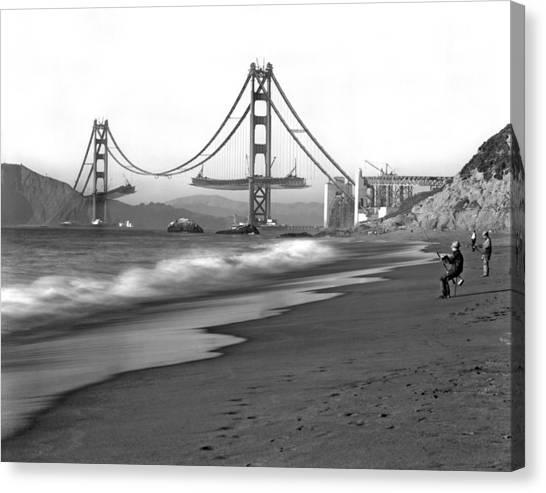 Baker Beach In Sf Canvas Print