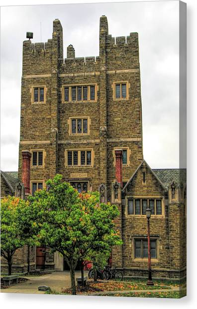 Cornell University Canvas Print - Baker Tower Cornell University by Dan Sproul