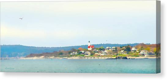 Bakers Island Lighthouse Canvas Print