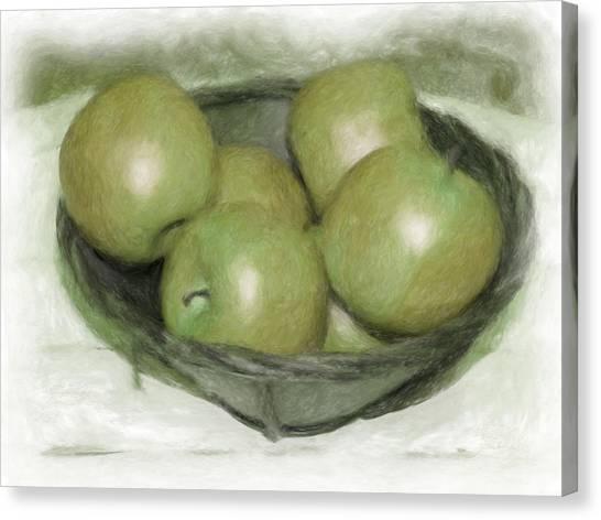 Baking Apples Canvas Print by Susan  Lipschutz