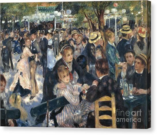 Pierre-auguste Renoir Canvas Print - Bal Du Moulin De La Galette by Extrospection Art