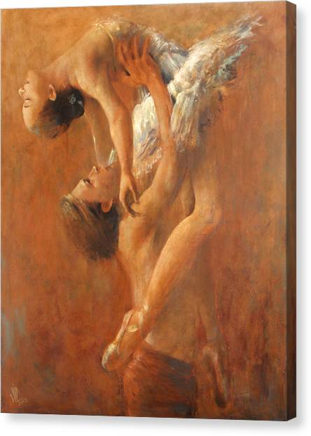 Balance In The Couple. Dance Painting .ballet.  Canvas Print