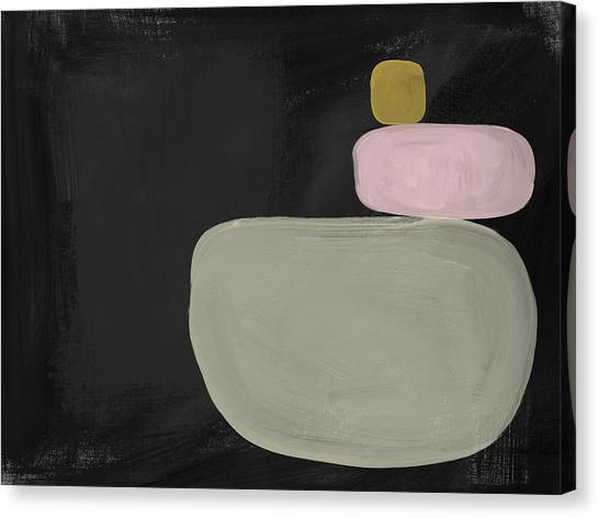 Shapes Canvas Print - Balanced Modern- Art By Linda Woods by Linda Woods