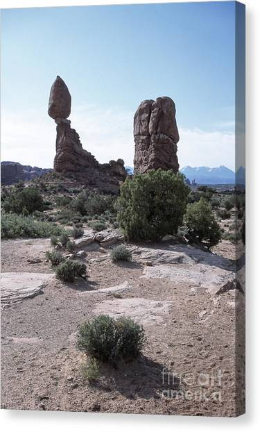 Balanced Rock Utah Canvas Print by Kim Lessel