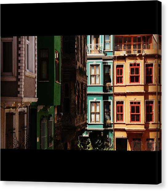 House Canvas Print - #balat #istanbul #eskibinalar #renkli by Ozan Goren