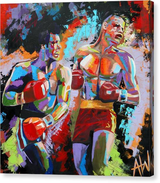 Boxing Canvas Print - Balboa by Angie Wright