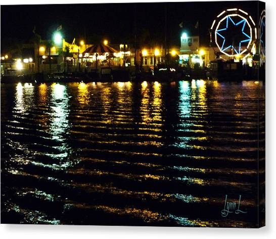 Balboa Night Canvas Print by S Lynn Lehman