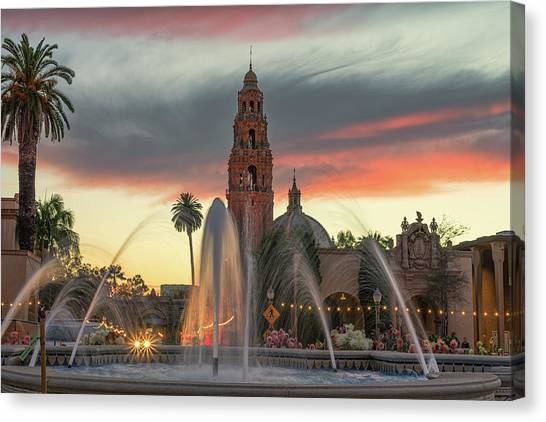 Balboa Park Sunset Canvas Print