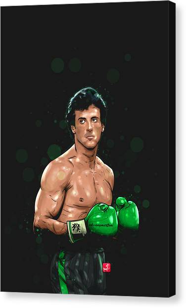 Stallone Canvas Print - Balboa Punch Team by Akyanyme