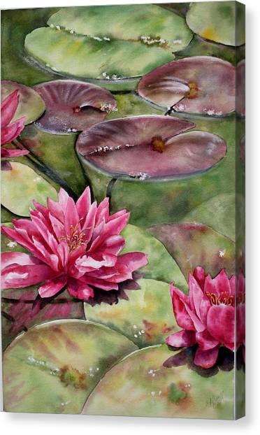 Balboa Water Lilies Canvas Print
