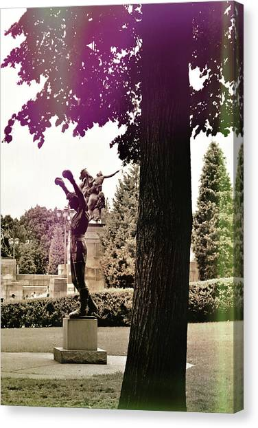 Rocky Balboas Moment Canvas Print by JAMART Photography