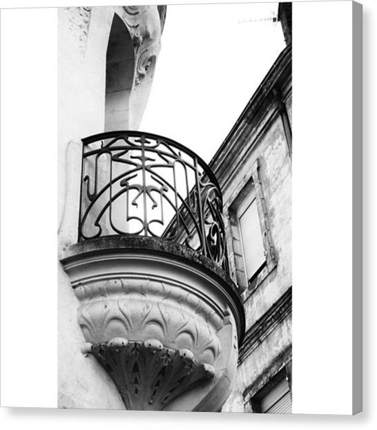 French Canvas Print - Balcony Detail #artnouveau #agen by Georgia Fowler