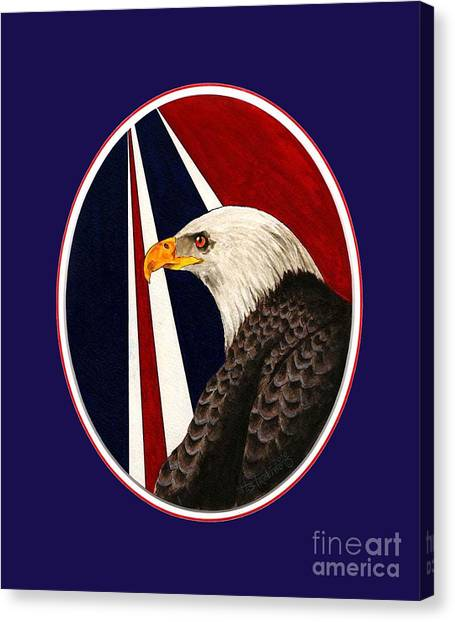 Bald Eagle T-shirt Canvas Print